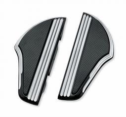 Harley-Davidson® Footboard Kit | Defiance Black Anodized Machine Cut | Passenger