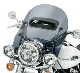 Harley-Davidson® 16 Inch Detachables™ Wind Splitter Vented Windshield Dark Smoke