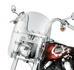 Harley-Davidson® 14 Inch Quick-Release Compact Windshield Light Smoke/Polished Braces