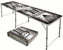 Harley-Davidson® Beer Pong Table | Dark Custom™ Logo | Portable