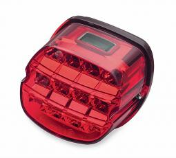 Harley-Davidson®  Layback LED Tail Lamp | Red Lens with License Plate Lamp