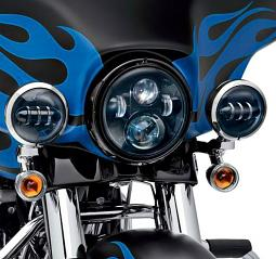 Harley-Davidson® Daymaker™ Projector LED Auxiliary Lamps - Gloss Black