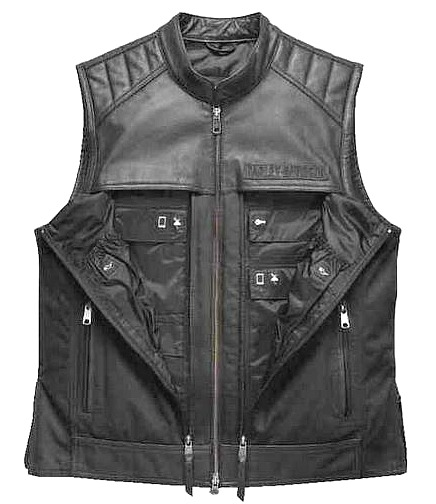 Harley-Davidson® Men's Synthesis Pocket System Vest | Leather & Cotton Canvas