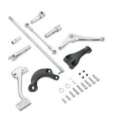 Harley-Davidson® Standard Chrome Forward Control Kit With Black Footpeg Support Brackets