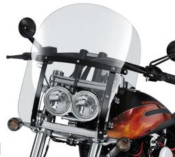 Harley-Davidson® 15 Inch Quick-Release Compact Windshield Light Smoke/Black Braces