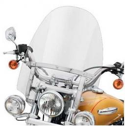 Harley-Davidson® Detachables™ Compact Windshield for Models Equipped with Auxiliary Lighting 18 Inch Clear