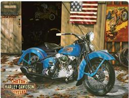 Harley-Davidson® At Your Service Embossed Tin Sign