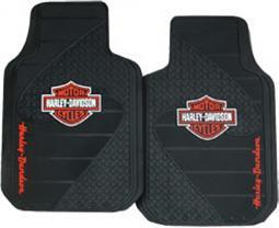 Harley-Davidson® Orange Bar & Shield® Floormats