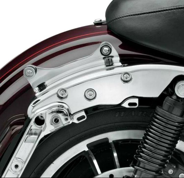 Matte Black Sissy Bar Luggage Rack 4 Point Docking Hardware Kit For Harley 14-up