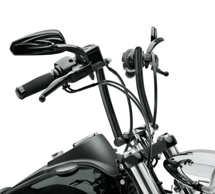 harley-davidson® chizeled handlebar satin black 55800103