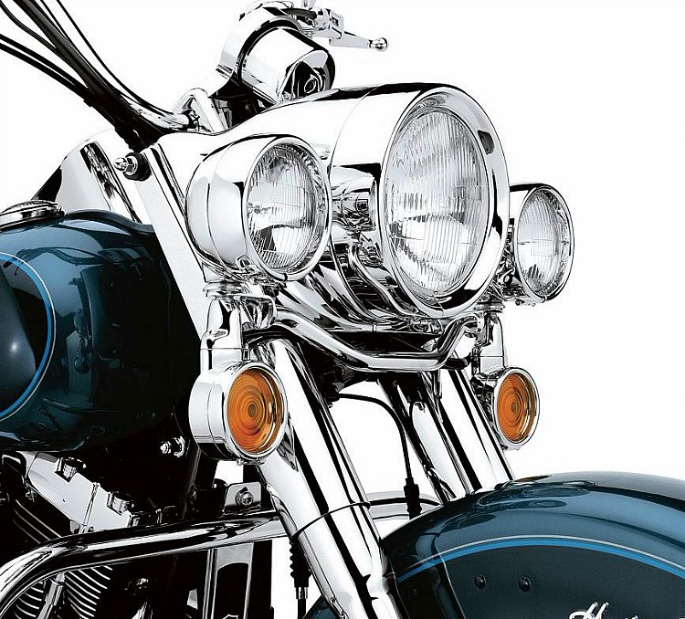Harley Davidsonu0026reg; Passing Lamp Trim Ring | Chrome