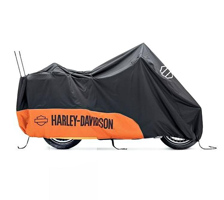 Harley Davidson Covers >> Harley Davidson Indoor Outdoor Motorcycle Cover Orange Black Large 93100023