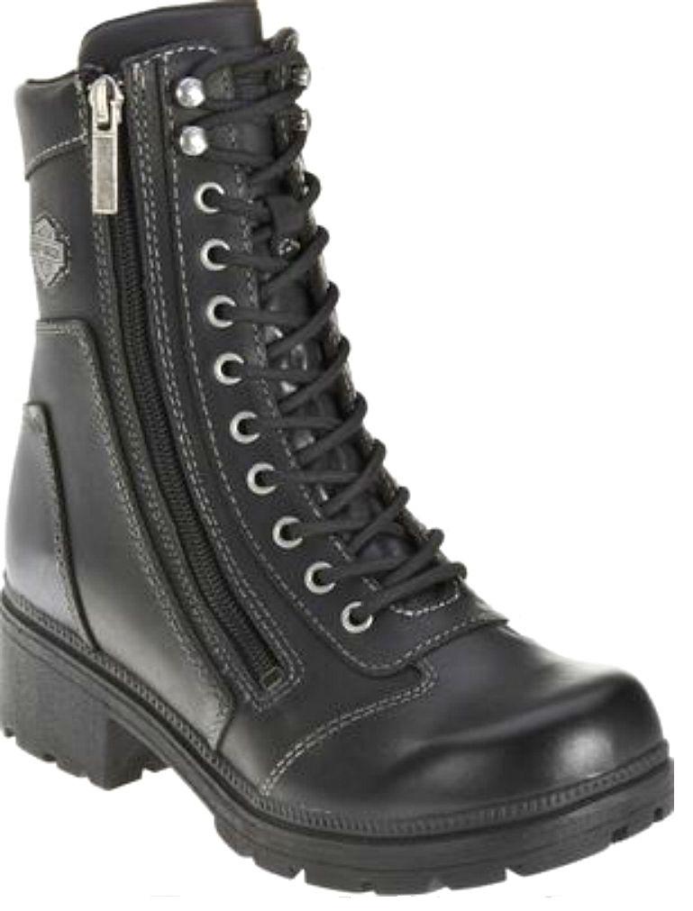 cf2fb1cfa165 Harley-Davidson® Women s Tessa Combat Motorcycle Boot Black Leather ...