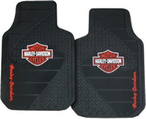 Harley davidson orange bar shield floormats 1384 pc harley davidsonreg orange bar shieldreg floormats tyukafo