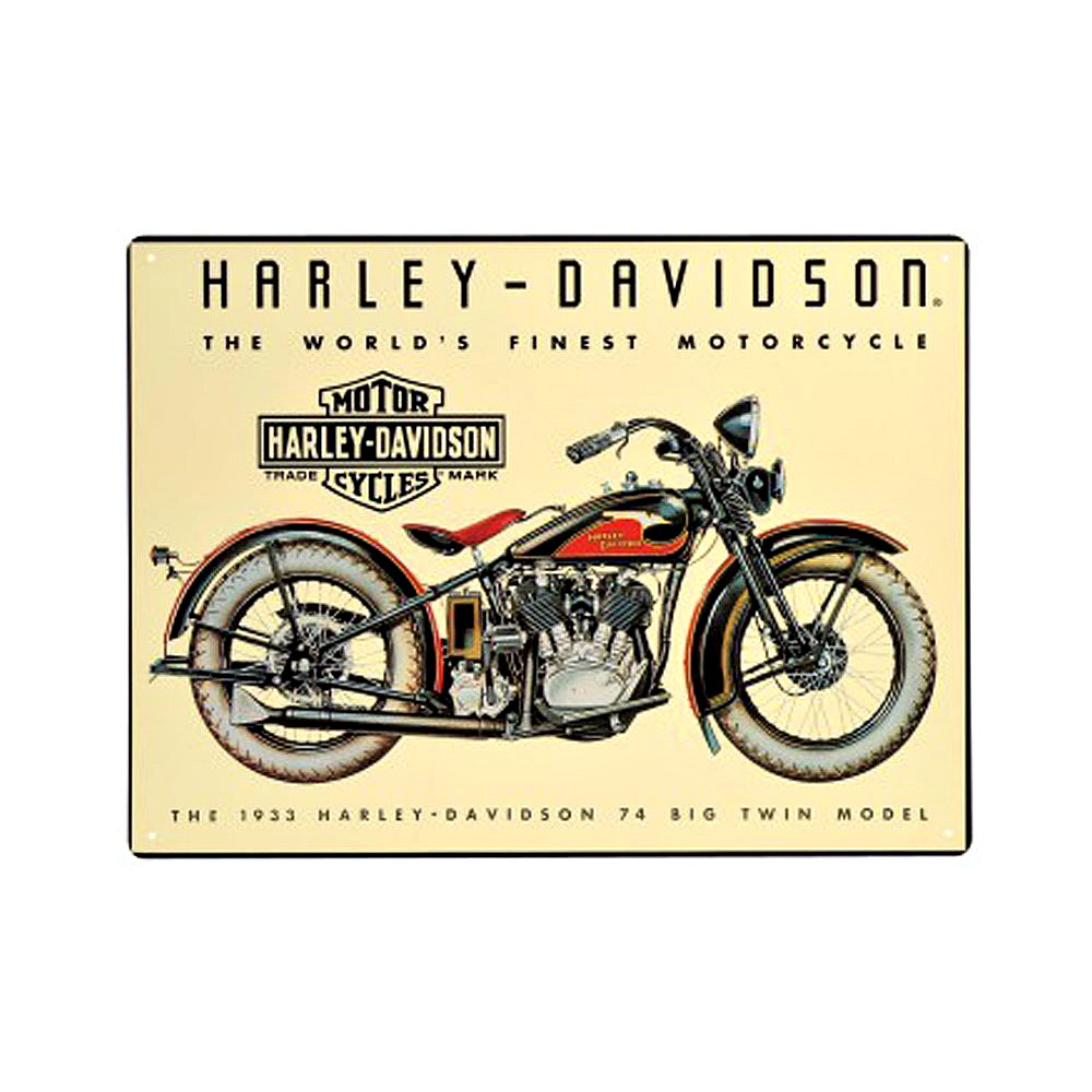 Harley-Davidson® 74 Big Twin Tin Sign