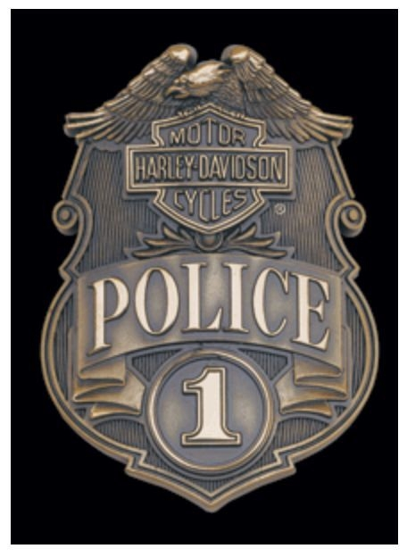 Harley-Davidson® Bar & Shield® #1 Police Die-Cut Tin Plate Sign