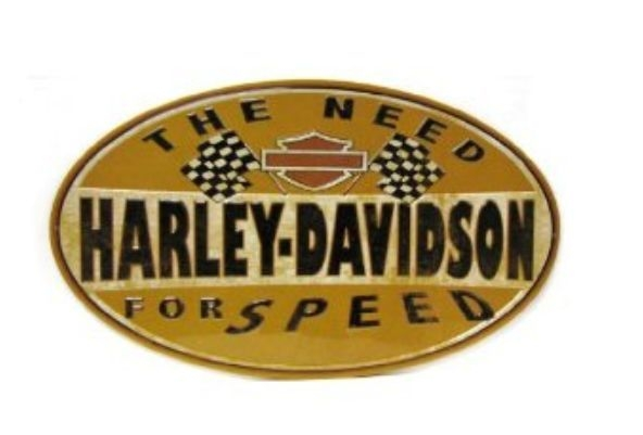 Harley-Davidson® Bar & Shield® Need For Speed Oval Tin Sign