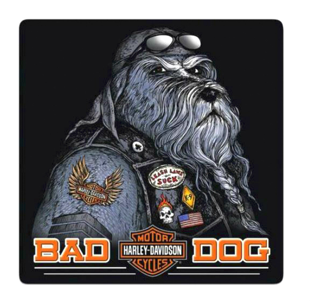 Harley-Davidson® Bad Dog Embossed Tin Sign | Rounded Corners
