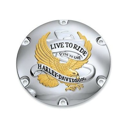 Harley-Davidson® Gold ''Live to Ride'' - Derby Cover 25127-04A