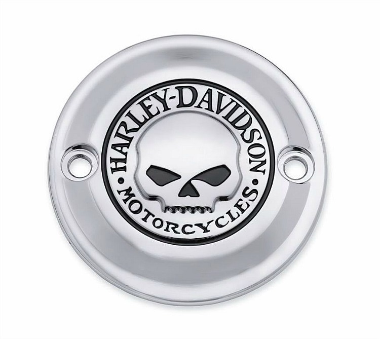 Harley-Davidson® Willie G® Skull Chrome Collection | Timer Cover | '17-Later Milwaukee-Eight® Engine-Equipped Models