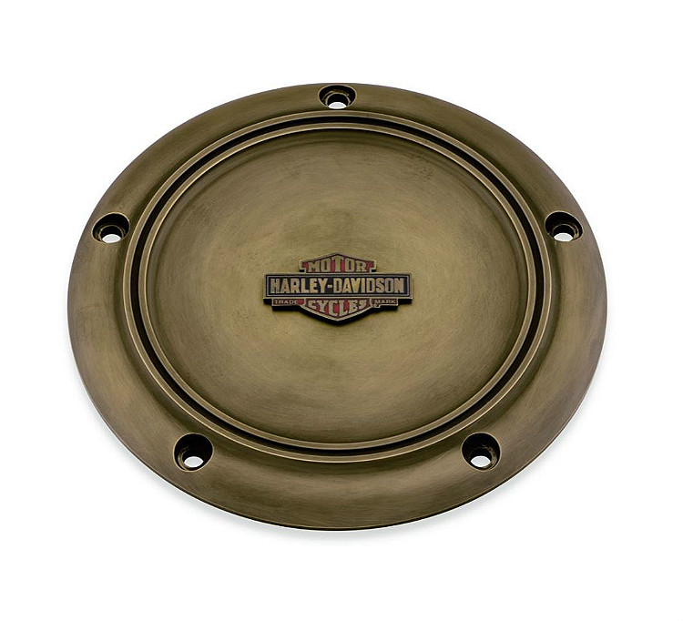 Harley-Davidson® Brass Collection   Derby Cover   '06-17 Dyna®, '07-18 Softail® & '07-15 Touring & Trike