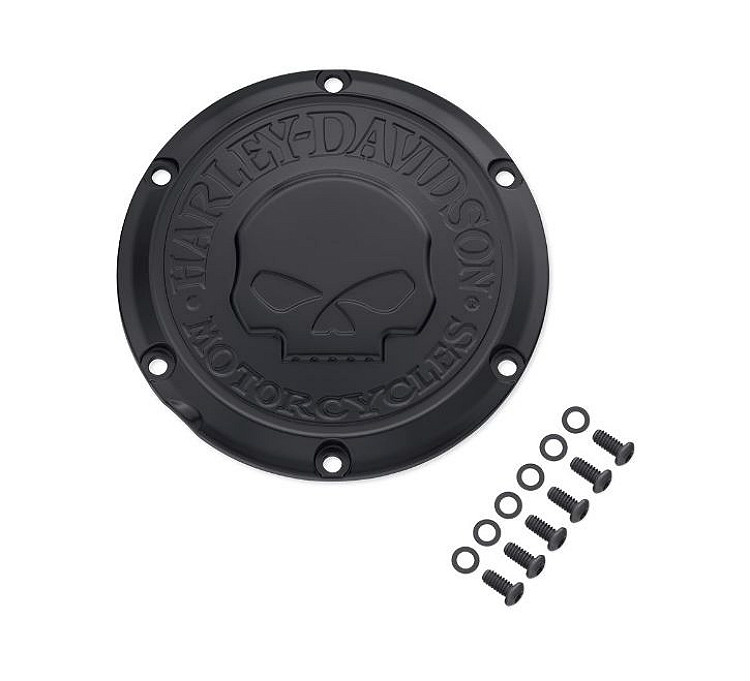 Harley-Davidson® Willie G® Skull Black Collection | Derby Cover | '04-Later Sportster® & XR Models