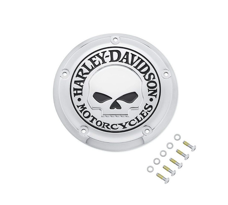Harley-Davidson® Willie G® Skull Chrome Collection | Derby Cover | '18-Later Softail® Models