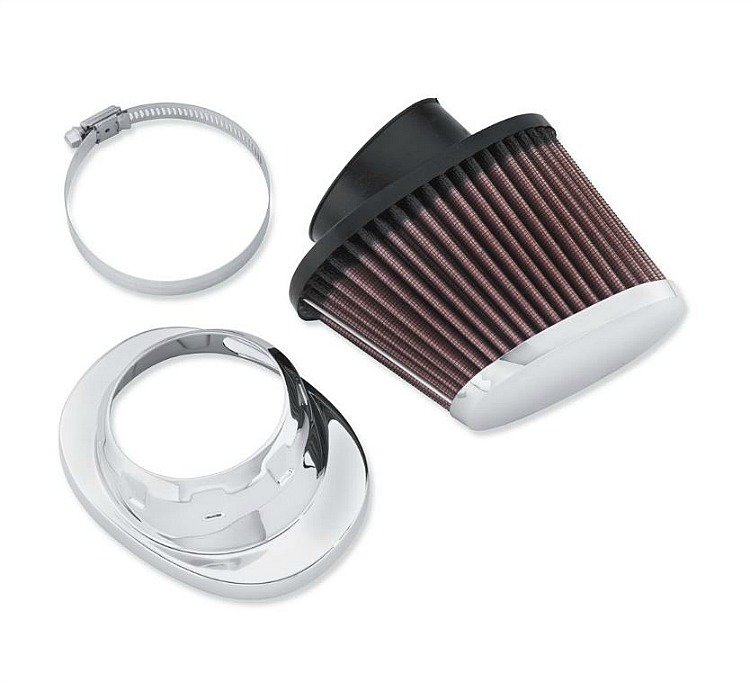 Harley-Davidson® Screamin' Eagle® High-Flo K&N® Air Filter Element | Heavy Breather | Chrome