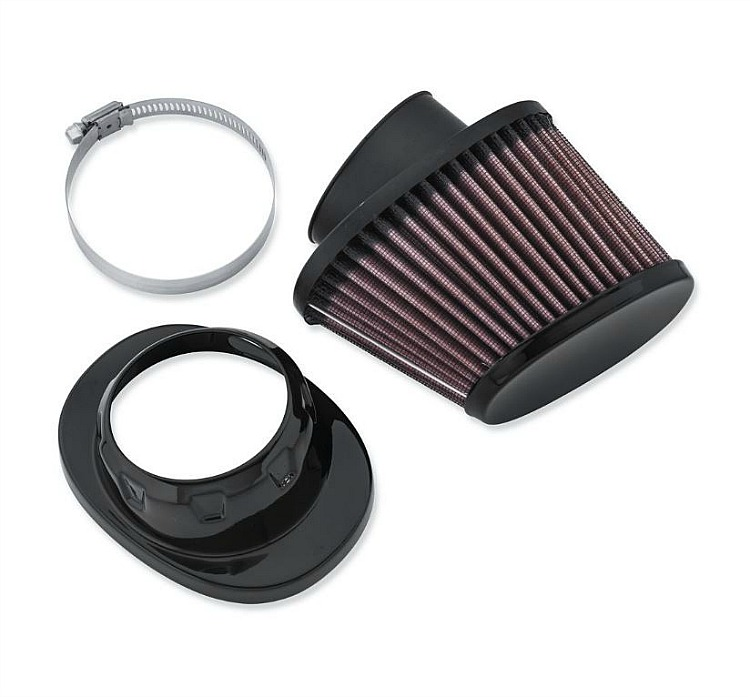 Harley-Davidson® Screamin' Eagle® High-Flo K&N® Air Filter Element | Heavy Breather | Black