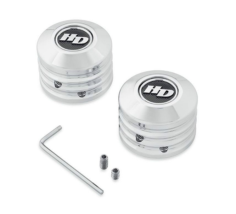 Harley-Davidson® Front Axle Nut Cover Kit | Defiance Collection | Chrome