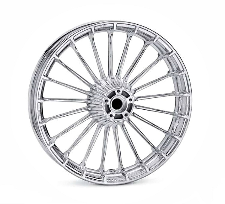 Harley-Davidson® Turbine Wheel | Mirror Chrome | 19 Inch Front