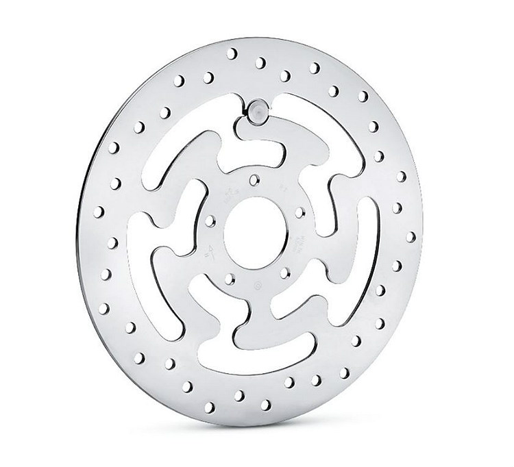 Harley-Davidson® Polished Brake Rotors | Front, LEFT Side