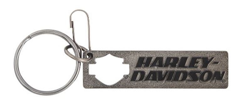 Harley-Davidson® Bar & Shield® Silhouette Knock Out Key Chain
