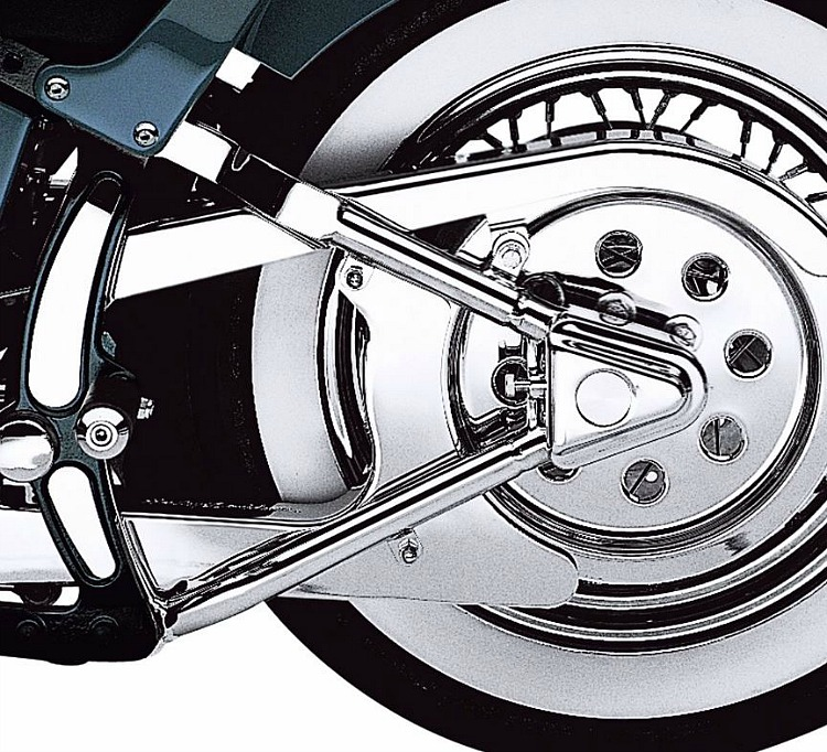 Harley Davidson Covers >> Harley Davidson Rear Axle Covers Softail Chrome 47596 91b