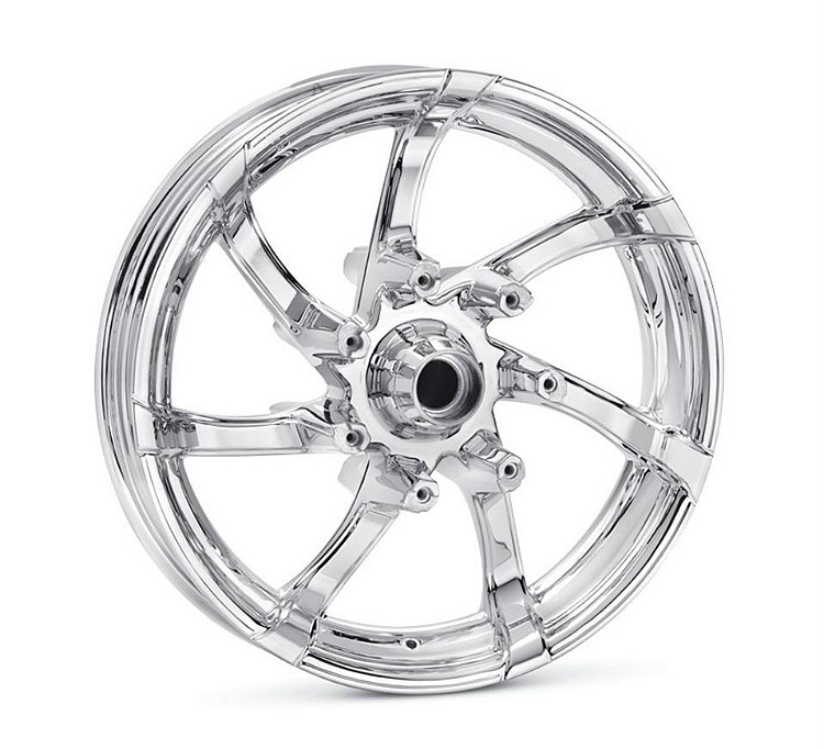 Harley-Davidson® Agitator Wheel | Mirror Chrome | 18 Inch Rear