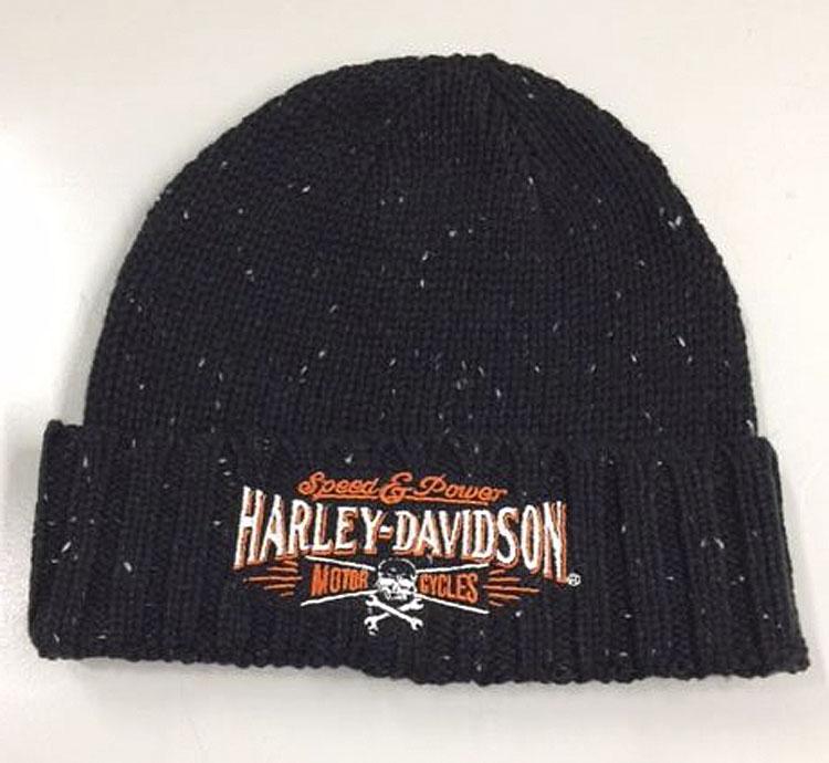 Harley-Davidson® Men's Villain Knit Cuffed Skull Cap | H-D® Signature Embroidery