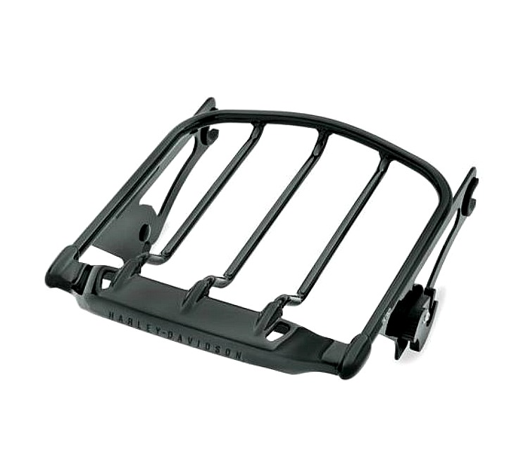 Harley-Davidson® Air Wing Detachables™ Two-Up Luggage Rack - Gloss Black