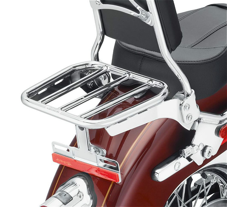 Harley-Davidson® Sport Luggage Rack Kit for HoldFast™ Sissy Bar Uprights | Chrome