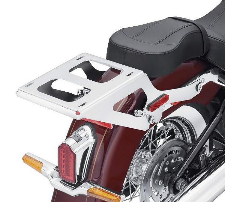 Harley-Davidson® Holdfast™ Detachable Two-Up Tour-Pak® Luggage Mounting Rack | Chrome