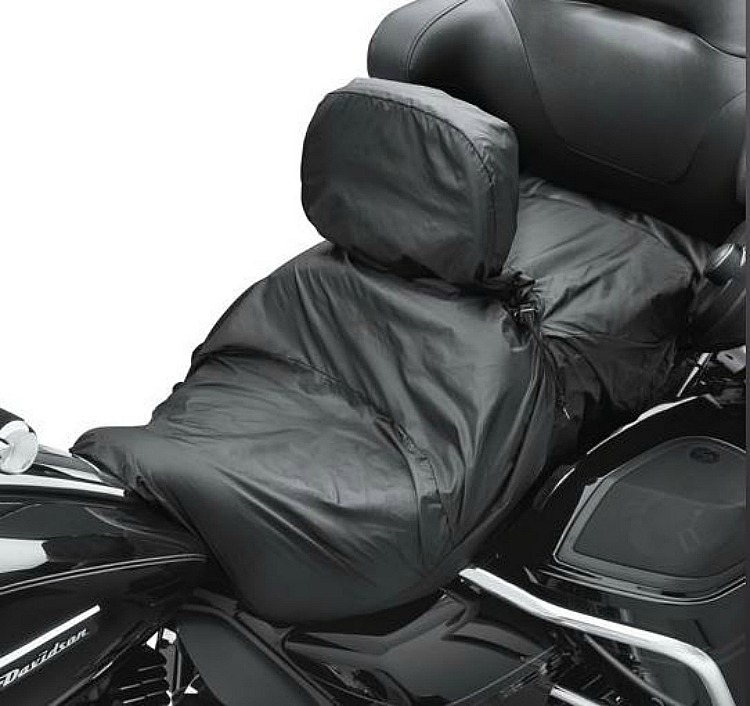 Harley-Davidson® Touring Seat Rain Cover with Rider Backrest