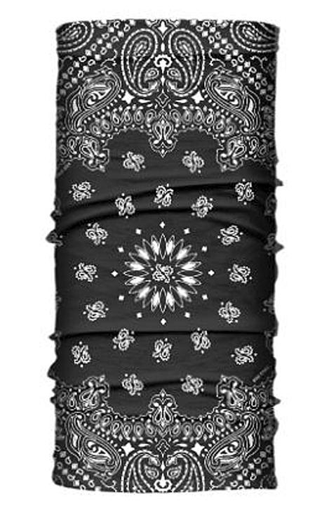 Hair Glove® Black Paisley Light-Weight EZ Tube Multi-Functional Headwear