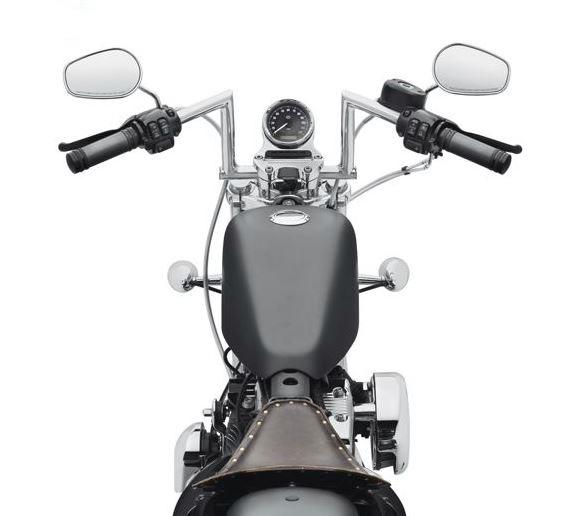 harley-davidson® chizeled lo handlebar-chrome 55800430