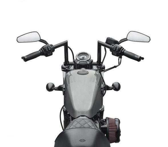 harley-davidson® chizeled lo handlebar-gloss black 55800431
