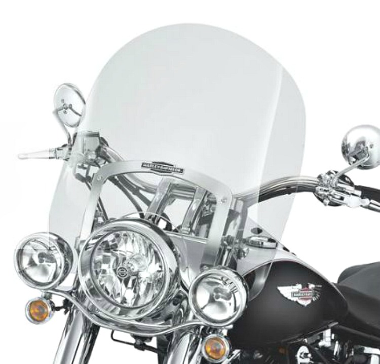 Harley Davidson Windshields >> Harley Davidson 18 Inch King Size Nostalgic Detachables Windshield For Fl Softail Models Light Smoke 57141 05