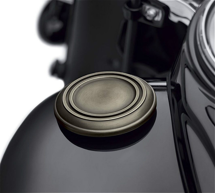 Harley-Davidson® Brass Collection | Left Side Decorative Fuel Tank Cap Trim | '18-Later Softail® Models