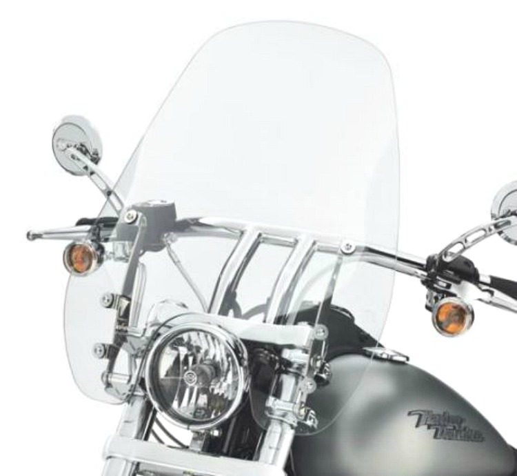 Harley-Davidson® Quick-Release 19 Inch Detachable Super Sport Windshield Light Smoke