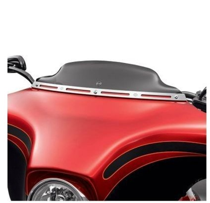 Harley Davidson Windshields >> Harley Davidson 4 5 Inch Wind Splitter Windshield In Dark Smoke 57400091