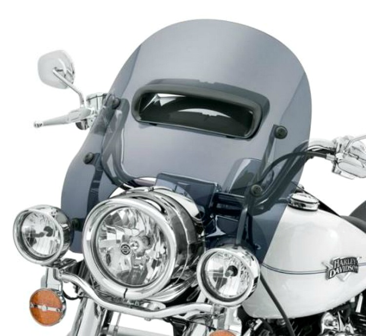 Harley Davidson Windshields >> Harley Davidson 16 Inch Detachables Wind Splitter Vented Windshield Dark Smoke 57400176