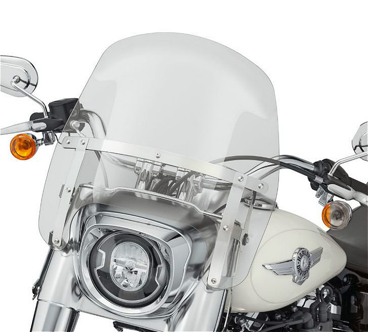 Harley-Davidson® Milwaukee-Eight® Fat Boy® | Wind Splitter Detachable Compact Windshield | 15"