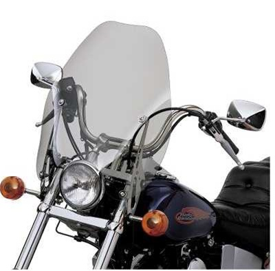 Harley Davidson Windshields >> Harley Davidson Detachables 18 Inch Super Sport Windshield Light Smoke 57965 97a